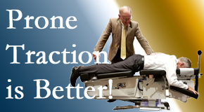 Baton Rouge  spinal traction applied lying face down – prone – is best according to the latest research. Visit Spine & Sports Rehab Center.