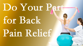 Spine & Sports Rehab Center calls on back pain sufferers to participate in their own back pain relief recovery.