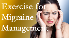 Spine & Sports Rehab Center incorporates exercise into the chiropractic treatment plan for migraine relief.