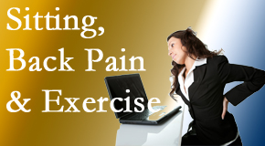 Spine & Sports Rehab Center urges less sitting and more exercising to combat back pain and other pain issues.