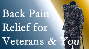 Spine & Sports Rehab Center treats veterans with back pain and PTSD and stress.
