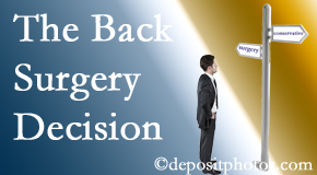 Baton Rouge  back surgery for a disc herniation is an option to be carefully studied before a decision is made to proceed.