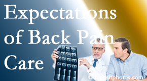 The pain relief expectations of Baton Rouge  back pain patients influence their satisfaction with chiropractic care. What is realistic?