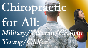 Spine & Sports Rehab Center provides back pain relief to civilian and military/veteran sufferers and young and old sufferers alike!