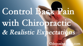 Spine & Sports Rehab Center helps patients establish realistic goals and find some control of their back pain and neck pain so it doesn't necessarily control them.