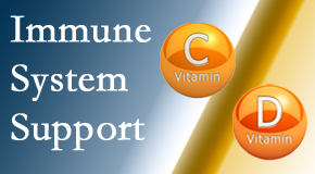 Spine & Sports Rehab Center presents details about the benefits of vitamins C and D for the immune system to fight infection.