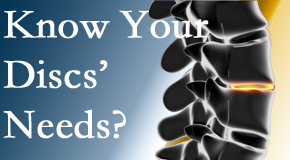 Your Baton Rouge  chiropractor thoroughly understands spinal discs and what they need nutritionally. Do you?