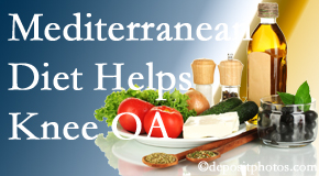 Spine & Sports Rehab Center shares recent research about how good a Mediterranean Diet is for knee osteoarthritis as well as quality of life improvement.