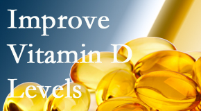 Spine & Sports Rehab Center explains that it's beneficial to raise vitamin D levels.