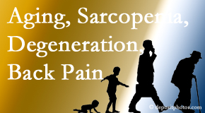 Spine & Sports Rehab Center lessens a lot of back pain and sees a lot of related sarcopenia and back muscle degeneration.