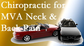 Spine & Sports Rehab Center provides gentle relieving Cox Technic to help heal neck pain after an MVA car accident.
