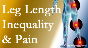 Spine & Sports Rehab Center tests for leg length inequality as it is related to back, hip and knee pain issues.