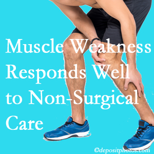 Baton Rouge  chiropractic non-surgical care manytimes improves muscle weakness in back and leg pain patients.