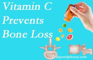 Spine & Sports Rehab Center may suggest vitamin C to patients at risk of bone loss as it helps prevent bone loss.