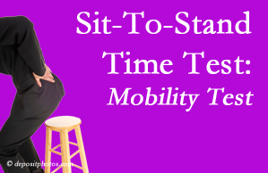 Baton Rouge  chiropractic patients are encouraged to check their mobility via the sit-to-stand test…and increase mobility by doing it!