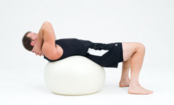 stability ball abs 1