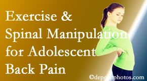 Spine & Sports Rehab Center uses Baton Rouge  chiropractic and exercise to relieve back pain in adolescents.