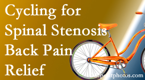 Spine & Sports Rehab Center encourages exercise like cycling for back pain relief from lumbar spine stenosis.