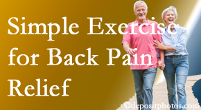 Spine & Sports Rehab Center suggests simple exercise as part of the Baton Rouge  chiropractic back pain relief plan.