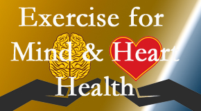 A healthy heart helps maintain a healthy mind, so Spine & Sports Rehab Center encourages exercise.