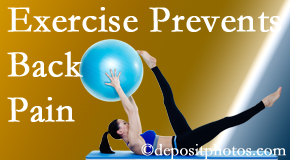 Spine & Sports Rehab Center encourages Baton Rouge  back pain prevention with exercise.