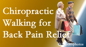 Spine & Sports Rehab Center encourages walking for back pain relief along with chiropractic treatment to maximize distance walked.