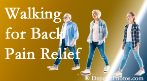 Spine & Sports Rehab Center often recommends walking for Baton Rouge  back pain sufferers.