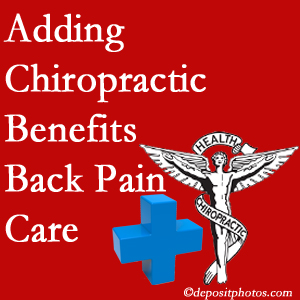 Added Baton Rouge  chiropractic to back pain care plans works for back pain sufferers.