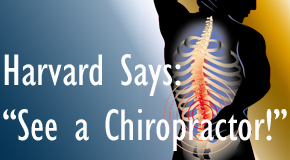 Baton Rouge  chiropractic for back pain relief urged by Harvard