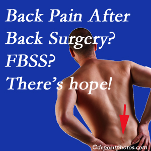 Baton Rouge  chiropractic care has a treatment plan for relieving post-back surgery continued pain (FBSS or failed back surgery syndrome).
