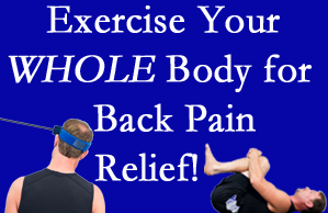 Baton Rouge  chiropractic care includes exercise to help enhance back pain relief at Spine & Sports Rehab Center.