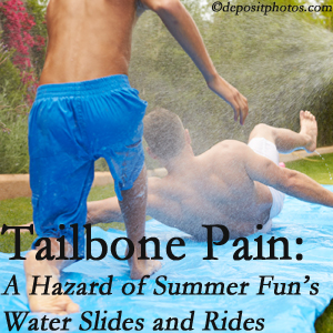 Spine & Sports Rehab Center offers chiropractic manipulation to ease tailbone pain after a Baton Rouge  water ride or water slide injury to the coccyx.