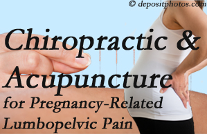 Baton Rouge  chiropractic and acupuncture may help pregnancy-related back pain and lumbopelvic pain.
