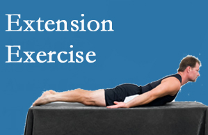Spine & Sports Rehab Center recommends extensor strengthening exercises when back pain patients are ready for them.