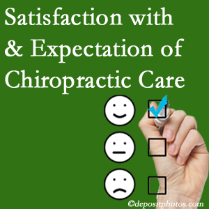 Baton Rouge  chiropractic care provides patient satisfaction and meets patient expectations of pain relief.