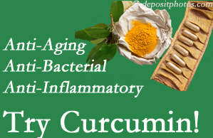 Pain-relieving curcumin may be a good addition to the Baton Rouge  chiropractic treatment plan.