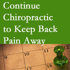 Continued Baton Rouge  chiropractic care fosters back pain relief.