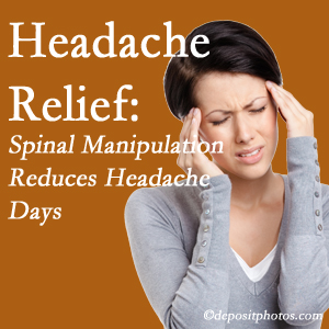 Baton Rouge  chiropractic care at Spine & Sports Rehab Center may reduce headache days each month.