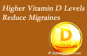 Spine & Sports Rehab Center shares a new paper that higher Vitamin D levels may reduce migraine headache incidence.