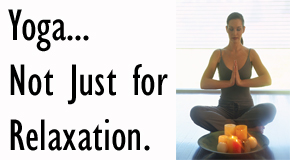 picture of lady doing yoga